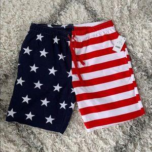 Bioworld American Flag patriotic Lounge Shorts